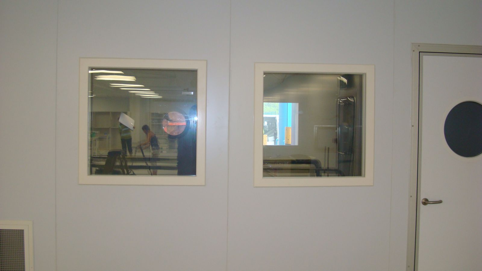 clean room windows - vision panels