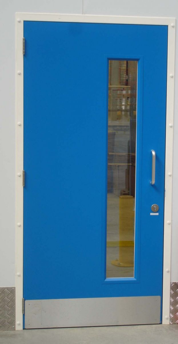 Personnel Fire Door With Long Vision Panels
