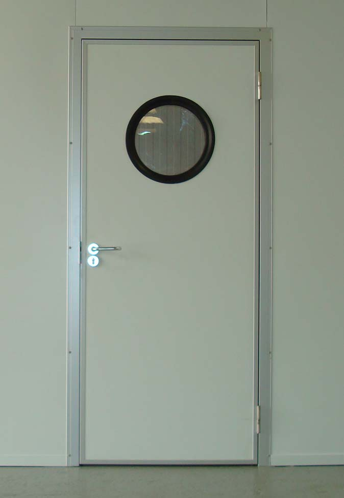 Personnel Door With Round Vision Panel