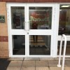 Reception Entrance Door - Powder Coated Fully Glazed - External View